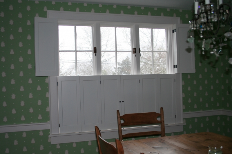 Solid wood shutters interior solid raised panel shutters - Raised panel interior window shutters ...