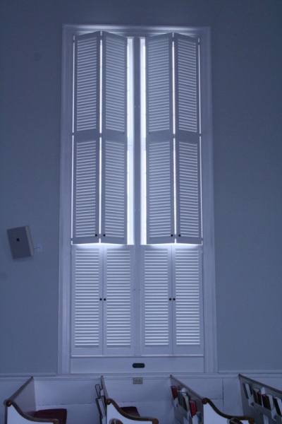 louvered interior shutters colonial
